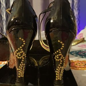 Babyphat Patent leather wedges EUC
